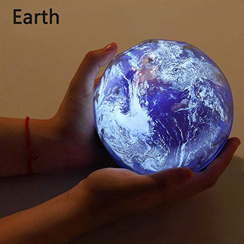 Zshhy Starry Sky Night Light Planet Magic Projector Earth Universe LED Lamp Colorful Rotate Flashing Star Kids Baby Christmas Gift Size: 5.1 x 4.7 inches-Not_Rotate_Earth