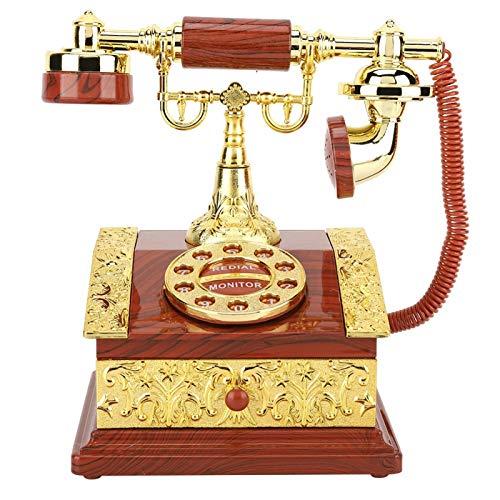 Lsaardth Joyero Musical - Teléfono de marcación Retro Caja de música Caja de joyería Caja de Almacenamiento Adorno de Escritorio