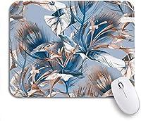 可愛いマウスパッド ブルーウォーター海の波美しい漫画のパターンレトロなスイムノンスリップラバーバッキングマウスパッドノートブックコンピュータマウスマット