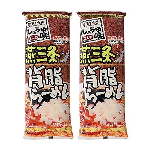 燕三条背脂らーめん 302g×2袋 ラーメン 乾麺