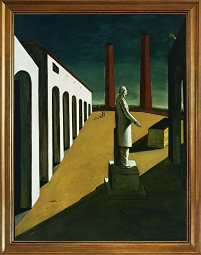 Berkin Arts Framed Giorgio de Chirico Giclee Canvas Print Paintings Poster Reproduction(The Enigma of a Day)