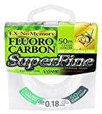 Fishing Tackle Max 10C8800120C10 Sasame Superfine 8800120-Hilo de Pesca de fluorocarbono (0,20 mm, 50 m, 2,9 kg), Unisex Adulto, carbón, Normal