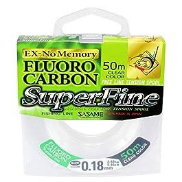 Fishing Tackle Max 10C8800123C10 FTM Sasame Superfine Fluorocarbone 0,23 mm 50 m 3,95 kg 8800123 Mixte-Adulte, coloré…