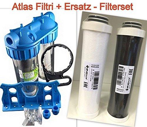 Atlas Filtri 3P Duo Blockfilter BX AS Ausführung + Ersatzfilterset Wasserwechsel Filter
