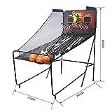 Soporte de baloncesto portátil para niños, sistema de red de baloncesto para exteriores, con baloncesto, interior y máquina de tiro electrónico, B