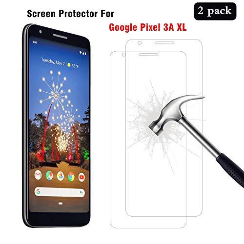 AHABIPERS [2 Stück Schutzfolie für Google Pixel 3A XL Panzerglas, HD Bildschirmschutzfolie, 9H Festigkeit Schutzfolie, [Anti-Kratzer/Bläschen/Fingerabdruck/Staub] Panzerglasfolie für Google Pixel 3A XL