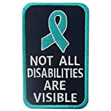 Not All Disabilities are Visible Vests/Harnesses Service Dog Patch Embroidered Fastener Hook & Loop Emblem
