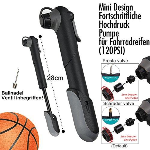 DAWAY Fahrrad Reparatur Werkzeug Set – A35 Fahrrad Werkzeugtasche mit 120 PSI Mini Fahrradpumpe, Multitool, Reifenheber und Selbstklebendes Fahrrad Flicken, 6 Monate Garantie - 2
