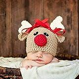 SDYT Winter Baby Hut Neugeborenen Baby Stricken Häkeln Hut Xmas Deer Foto Prop...
