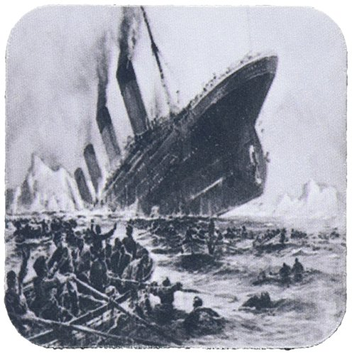 3dRose CST_80330_2 1912 Artists Rendering of Sinking of The Titanic Soft Untersetzer, 8 Stück