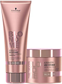 Schwarzkopf BLONDME Keratin Restore Bonding All Blondes Shampoo 250ml and Mask 200ml