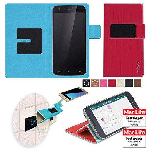 reboon Hülle für Doogee F3 Pro Tasche Cover Case Bumper | Rot | Testsieger