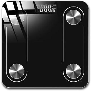 HJTLK Báscula de baño Digital, báscula de baño, báscula para Grasa Corporal, LED BMI Digital Balance de Peso, báscula Bluetooth, 180 kg, Negro