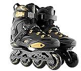 XIUWOUG Herren Damen Inliner Inlineskates | 82A Rollen | ABEC9 Chrome Kugellager | Unisex Fitness Skates für Erwachsene,Schwarz,42