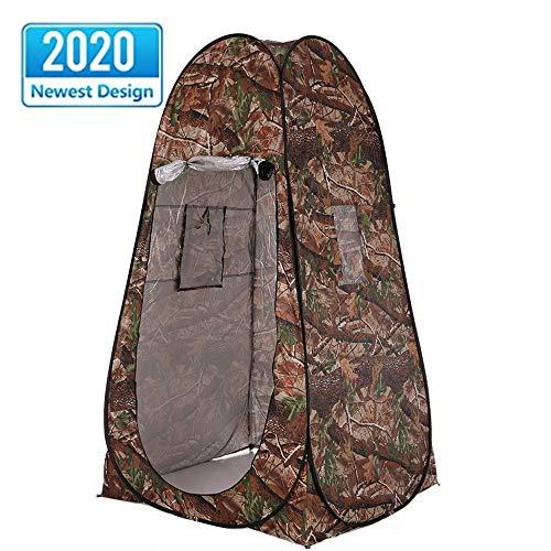 Tente Pop-Up Imperméable Camouflage Camping Douche Toilette Toilette Confidentialité Vestiaire Unique Mobile Pliant Portable Tentes