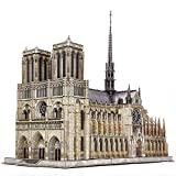 CubicFun 3D Puzzle for Adults Moveable Notre Dame de Paris Church Model Kits Large Challenge French Cathedral Brain Teaser Architecture Building Puzzles, 293 Pieces