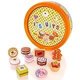 Molly Dolly Holzspiel Food Set - Kuchen & Keksdose - Für Kinder Küche Rollenspiel