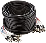 Seismic Audio - SARLX-8x100 - 8 Channel XLR Snake Cable - 100 Feet Long - Pro Audio Snake for Live Live, Recording, Studios, and Gigs - Patch, Amp, Mixer, Audio Interface 100'