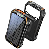 LBell Solar Charger 26800mAh, Wireless Solar Power Bank Portable Charger with 18 LED 3 USB Output 4 Lighting Modes Ports External Backup Battery Huge Capacity Phone Charger for Camping Outdoor