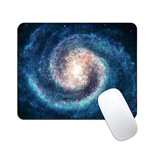 Alfombrilla de ratón para juegos con base de goma antideslizante para ratón, alfombrilla cuadrada de dibujos animados, para ordenadores portátiles, Nebulosa Galaxy 1