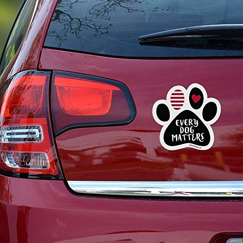 Every Dog Matters Car Paw Magnet- Midnight
