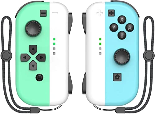 KDD Joy-pad Controller Compatible with Nintendo Switch L/R Joy Controller with Animal Crossing Theme, Buil-in Wake-up...