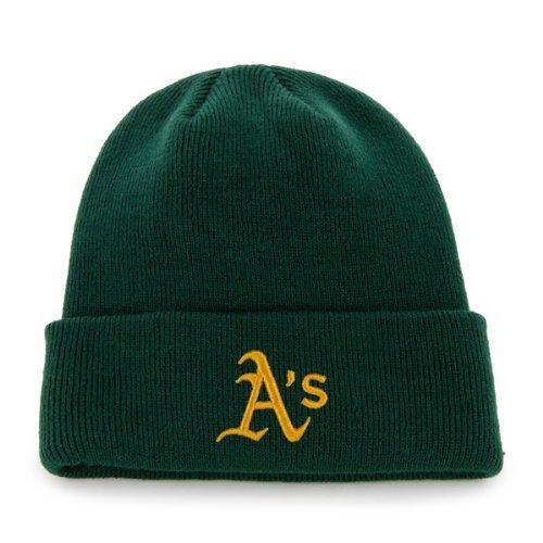 '47 MLB Oakland Athletics Raised Cuff Knit Beanie, One Size, Dark Green
