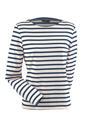 Saint James Meridame - Streifenshirt - Bretagne-Shirts Ecru/Marine (36)
