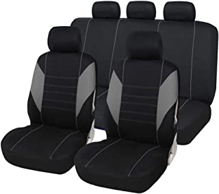 9PCS Universal Car Seat Covers, Interior Accessories & Seat Covers, for Most Cars, Trucks, SUVs Or Vans, 100 Breathable, with 2mm Compound Sponge Polyester Cloth