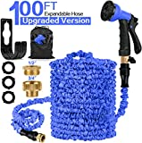 HOSE-PRO 100 FT Expandable Garden Water Hose Pipe, Magic Expanding Flexible Hose