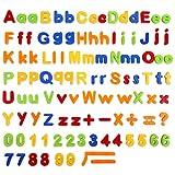 Baobë Letras y números magnéticos ,106 Piezas,Juguetes magnéticos para Niños