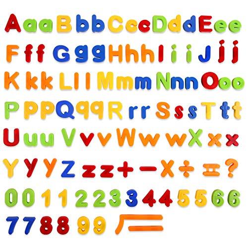 Baobë Magnetische Buchstaben und Zahlen set-106pcs, ABC Alphabet Magnete für Kinder,Lernspielzeug für Kinder,Geschenk