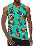 Loveternal Pineapple Tank Top Summer Piña Chalecos 3D Impreso Casual Workout Camisetas sin Mangas XL