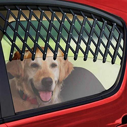 WYXMZ Ventana de Coche Universal, ventilación de Viaje, Mascota, Perro, Cachorro, ventilación de Seguridad, Rejilla, protección de ventilación, Valla telescópica