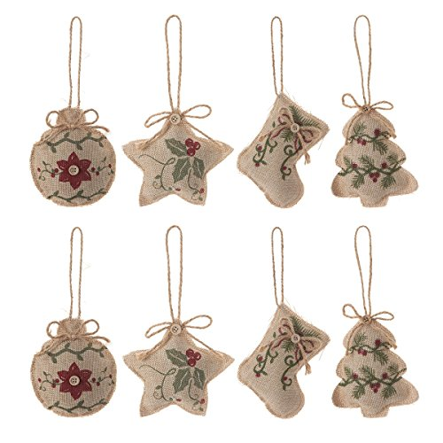 Burlap Christmas Tree Ornaments Stocking Decorations