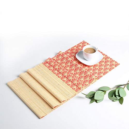 LOVECASA tischläufer Bambus, Tischläufer abwischbar, Tischplatz,180 x 30 cm, Tischdecken, Japanisch Stil