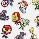 ZJJHX Marvel Marvel Avengers Pegatinas Pegatinas Maleta Pegatinas Cuaderno Skateboard Guitarra Maleta Pegatinas Impermeable 20 Piezas