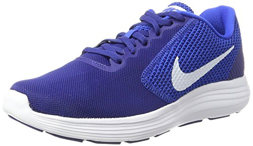 Nike Men's Revolution 3 Blk/Medblu-Gry Running Shoes-10 UK/India...