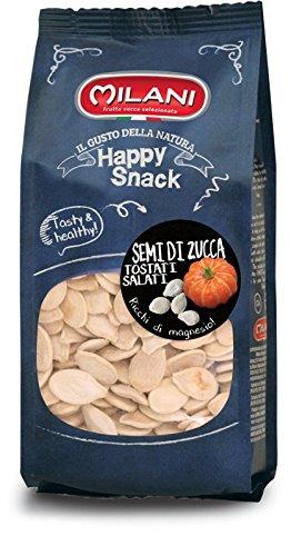 10 buste da g200 (2 kg. di prodotto) di semi di zucca tostati e salati (sale iodato)