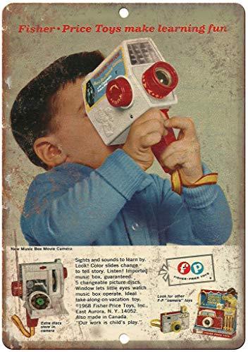 Fisher Price Toys Music Box Cartel de Chapa Retro, Cartel de Pared,...