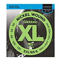 DADDARIO (ダダリオ) 5弦ベース弦 EXL165-5 Nickel Wound 5-String Bass Light Top Med Btm 45-135