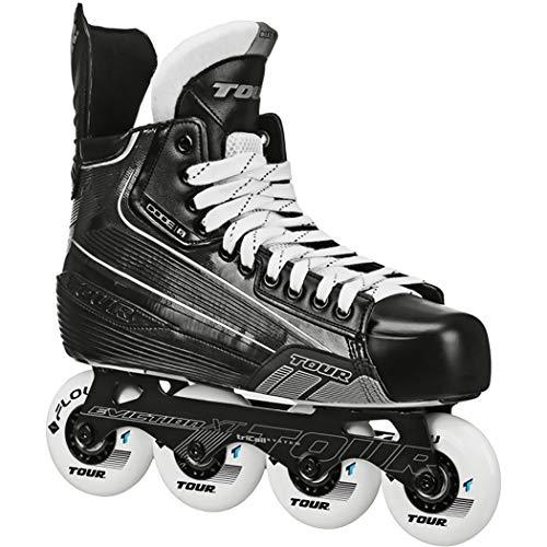 TOUR Code 5 Senior Inline Hockey Skates Black Size: 8 Black