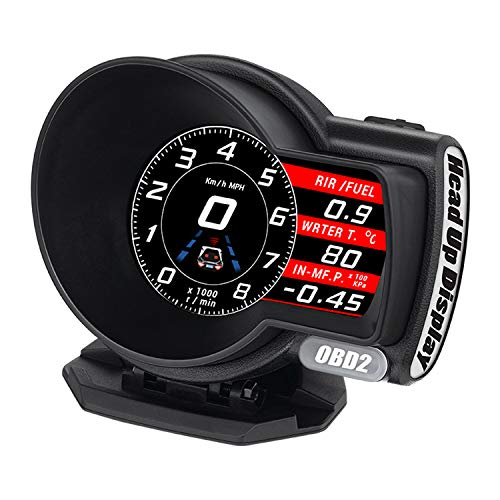 OBD2 マルチメーター デジタルメーター スピードメーター タコメーター サブメーター 追加メーター 速度 水...