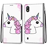 FlipBird ZTE Blade A530 Case, Magnetic PU Leather Card Slots Wallet Case Shockproof PU Leather Flip Protective Cover Wrist Strap for ZTE Blade A530 Print#1