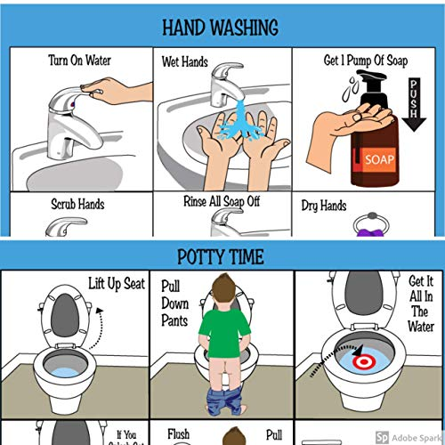 Potty Training! ABA/OT Approved Step-by-Step Visual Schedules for Children. Ideal for Autism or...