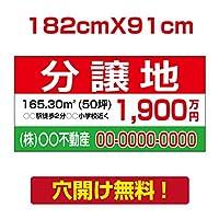 プレート看板 アルミ複合板 表示板不動産向け募集看板【分讓地】 182cm*91cm estate-08