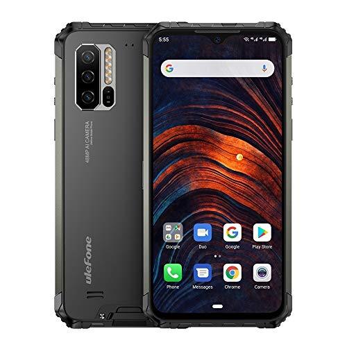 Teléfonos Inteligentes Armadura 7 Robusta teléfono, Dual 4G y Volte, Impermeable a Prueba de Polvo a Prueba de Golpes, y Face ID identificación de Huellas Dactilares, OTG/NFC (Negro)