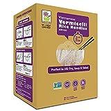 Rice Noodles, Brown Rice Noodles, Ramen Noodles Alternative, Non-GMO, Pad Thai Noodles, Star Anise Foods (Vermicelli Rice Noodles, 21 servings)