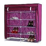 Y-M-H Estante De Zapatos Laterales Doble con Cubierta A Prueba De Polvo Armario De Zapatos Almacenamiento Organizador