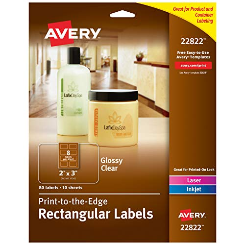 Avery Rectangle Labels with Sure Feed, Laser & Inkjet Printers, 2